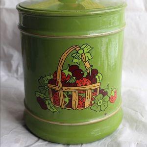 Kromex Vintage Tin with Strawberries and Cherries